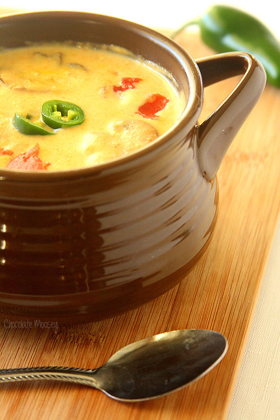 Roasted Jalapeno Soup kicks dinner up a notch