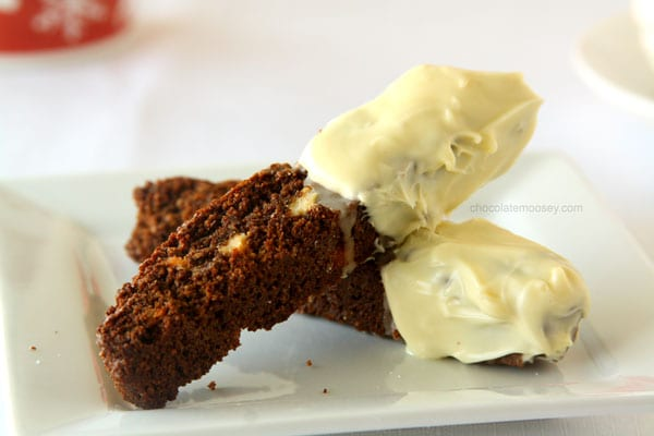 White Chocolate Gingerbread Biscotti