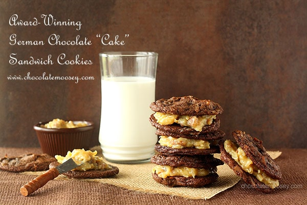 Award Winning German Chocolate Cake Sandwich Cookies