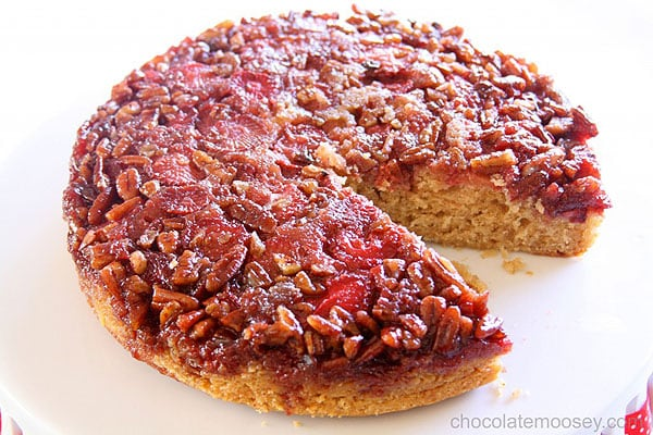 Award-Winning Strawberry Pecan Upside-Down Spice Cake