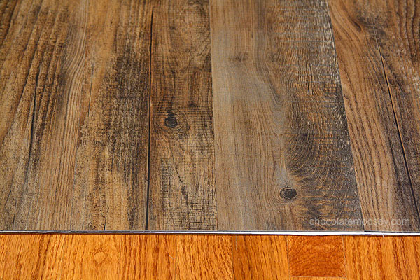Diy faux wooden photography boards for Fake wood flooring