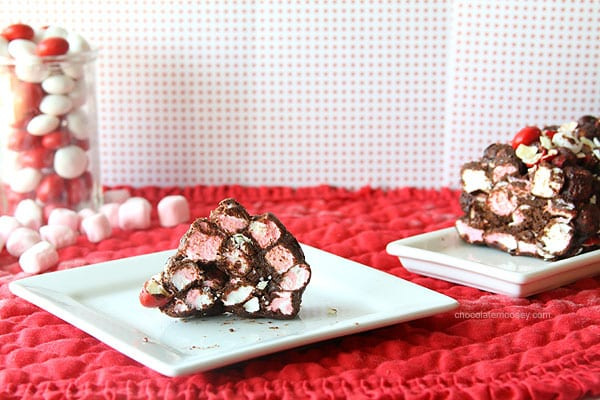 No Bake Fudgy Peppermint Cathedral Cookies