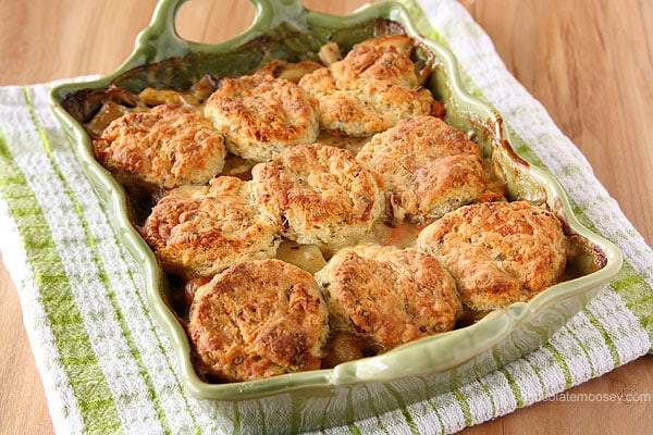 Chicken Pot Pie With Cream Cheese And Chive Biscuits Recipes ...