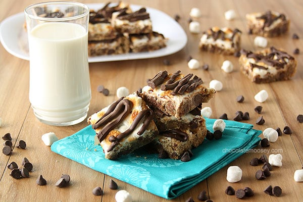 Smores Chocolate Chip Cookies Bars