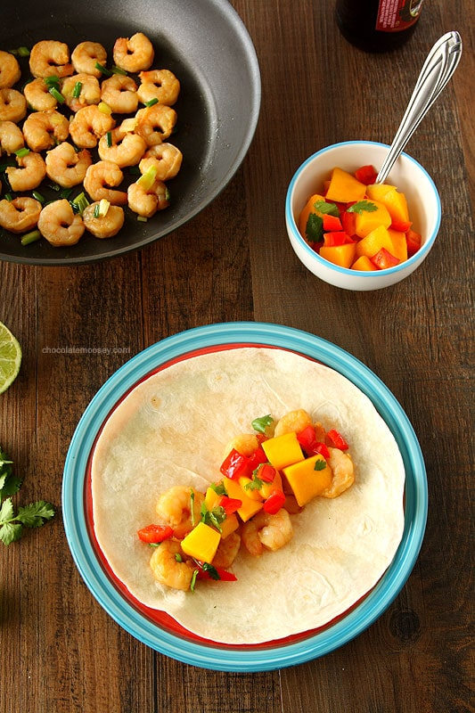 Make it an easy and healthy taco night with Asian Shrimp Tacos with Mango Salsa. Dinner is ready in under 60 minutes.