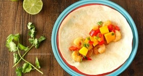 Asian Shrimp Tacos with Mango Salsa