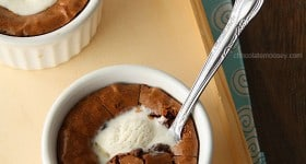 Deep Dish Hot Fudge Brownie Sundaes For Two from www.chocolatemoosey.com @chocolatemoosey
