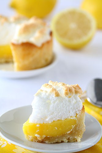 Mini Deep Dish Lemon Meringue Pie from www.chocolatemoosey.com @chocolatemoosey