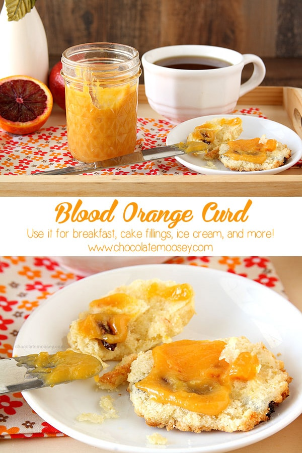 Vibrant Blood Orange Curd is a smooth fruit spread used for breakfast, cake fillings, and more. Use it as a substitute for lemon curd.