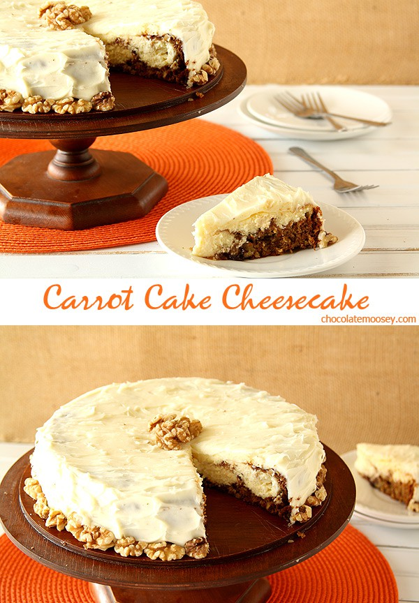 Carrot Cake Cheesecake for Easter dessert