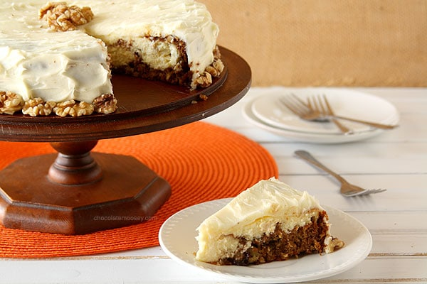 Carrot Cake Cheesecake #SundaySupper
