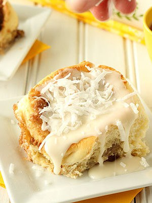 Lemon Coconut Cinnamon Rolls