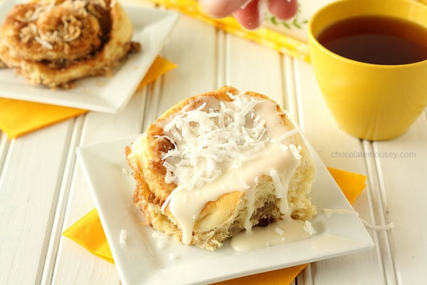 Lemon Coconut Cinnamon Rolls for #SundaySupper