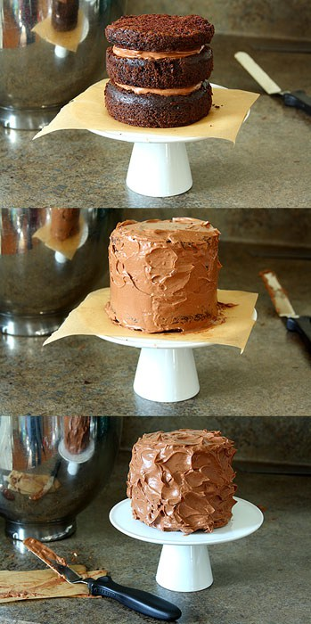 Mini Layered Guinness Cake with Irish Cream Ganache Frosting