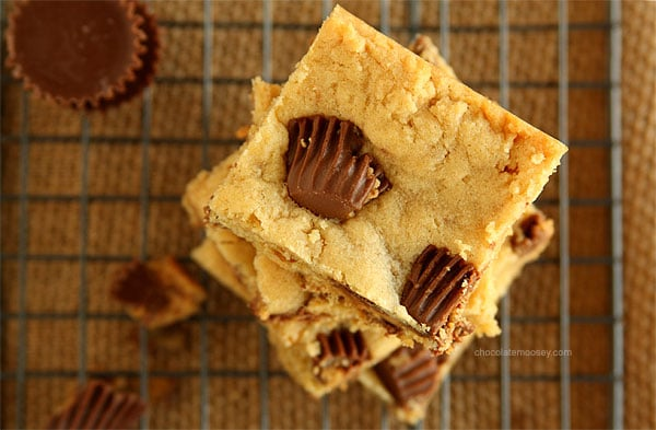 Peanut Butter Cup Bars | www.chocolatemoosey.com