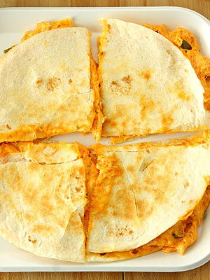 Buffalo Chicken Dip Quesadillas