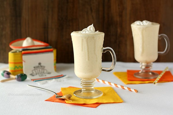 Dulce De Leche Milkshakes with Coconut Milk Whipped Cream | www.chocolatemoosey.com