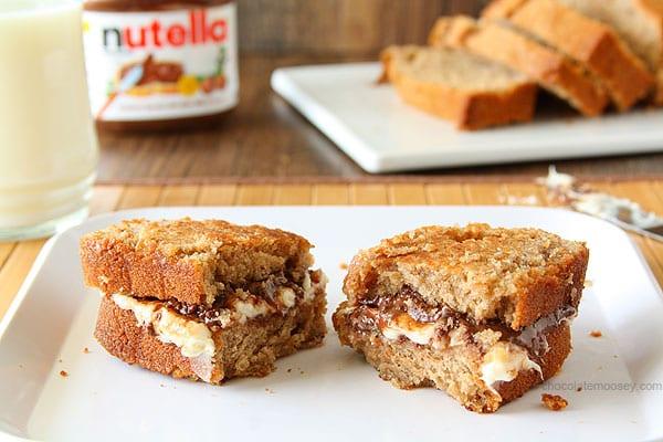 Grilled Nutella Cheesecake Sandwich | www.chocolatemoosey.com