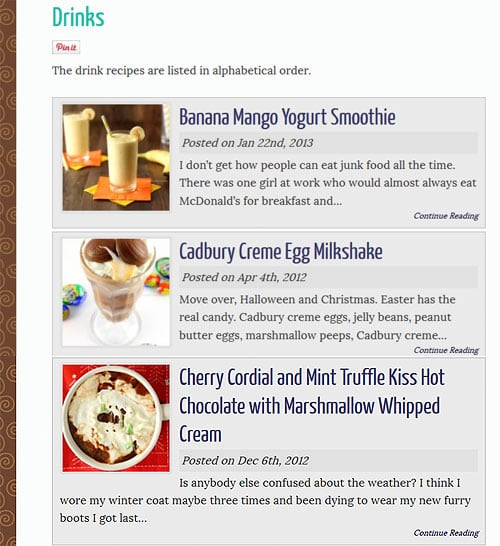 How To Create An Automatic Recipe Index For WordPress Blogs | www.chocolatemoosey.com