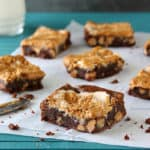 Fudgy Fluffernutter Swirl Brownies | www.chocolatemoosey.com