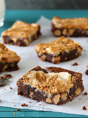Small Batch Peanut Butter Fudge Brownies In A Loaf Pan