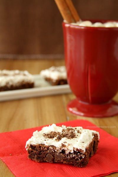 Mexican Hot Chocolate Brownie Cookie Bars | www.chocolatemoosey.com