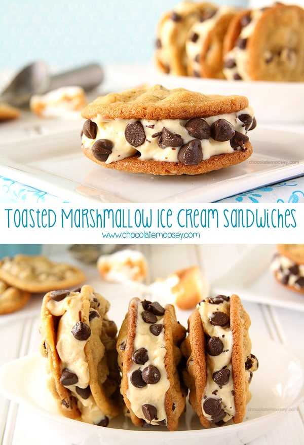 Toasted Marshmallow Ice Cream Sandwiches