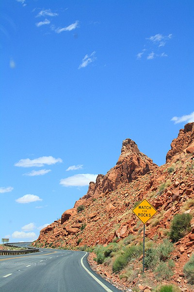 Watch For Rocks Sign - Tips For Travel Photography
