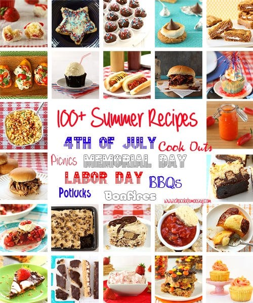 100+ Summer Recipe Round Up | www.chocolatemoosey.com
