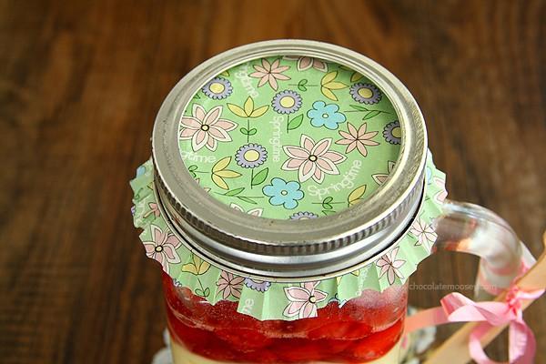 Baked Cheesecake In A Jar | www.chocolatemoosey.com
