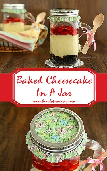 Baked Cheesecake In A Jar | www.chocolatemoosey.com