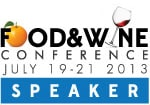 Food And Wine Conference Speaker