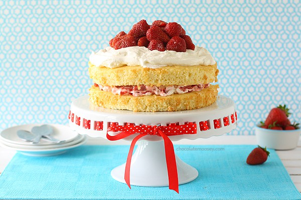 Layered Strawberry Shortcake   www.chocolatemoosey.com