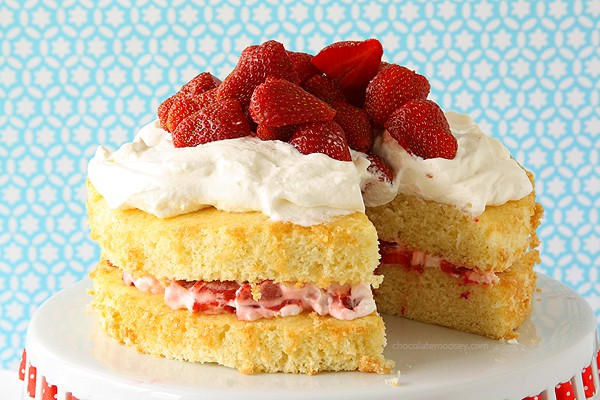 Layered Strawberry Shortcake | www.chocolatemoosey.com