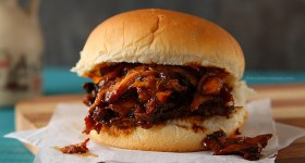 Maple BBQ Pulled Chicken Sandwiches | www.chocolatemoosey.com