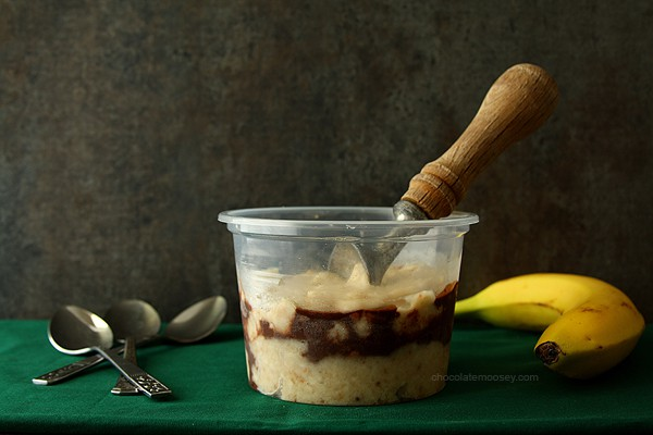 Banana Fudge Swirl Ice Cream | www.chocolatemoosey.com