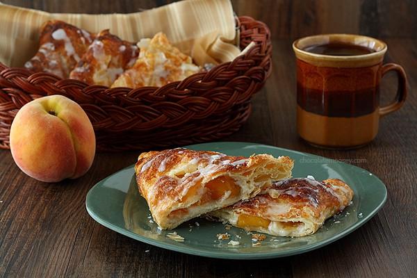 Peach Pie Cheesecake Turnovers   www.chocolatemoosey.com