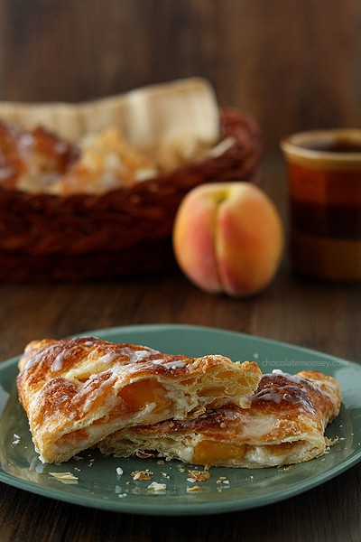 Peach Pie Cheesecake Turnovers | www.chocolatemoosey.com