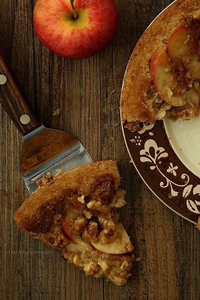 Apple Walnut Upside Down Spice Cake   www.chocolatemoosey.com