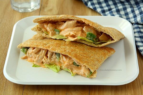 Buffalo Chicken Salad Sandwiches | www.chocolatemoosey.com