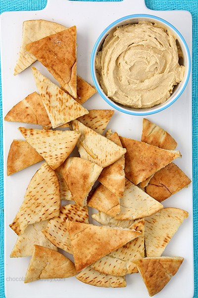 Homemade Pita Chips | www.chocolatemoosey.com