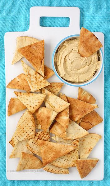 Homemade Pita Chips | www.chocolatemoosey.com