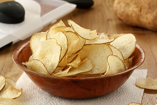 Homemade Salt and Vinegar Potato Chips   www.chocolatemoosey.com
