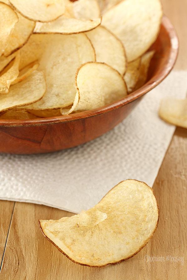 Homemade Salt and Vinegar Chips made with vinegar powder