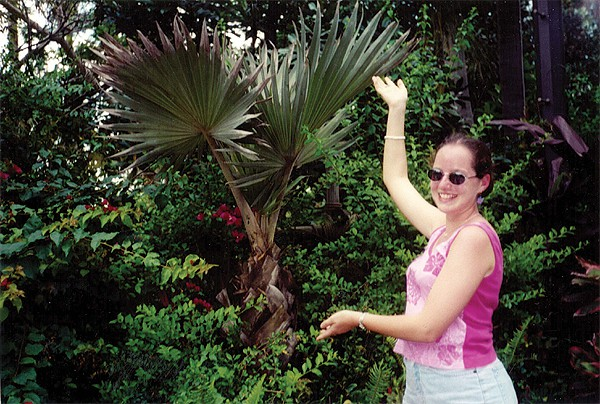 Leigh and her palm tree