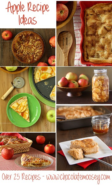 Apple Recipe Ideas from www.chocolatemoosey.com