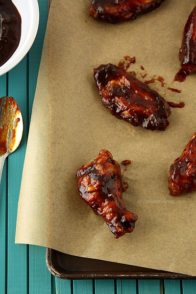 Jack Daniel's Honey Barbecue Baked Chicken Wings | www.chocolatemoosey.com