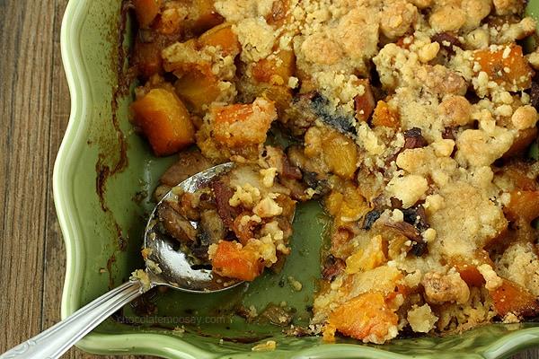 Butternut Squash Crumble | www.chocolatemoosey.com