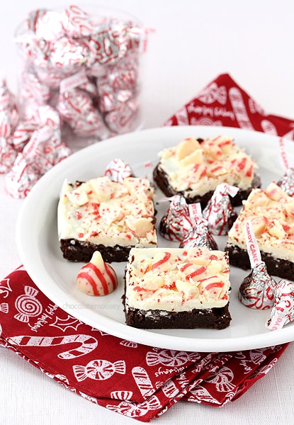 Candy Cane Kiss Brownies