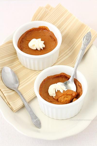 Egg Free Pumpkin Pie For Two | www.chocolatemoosey.com